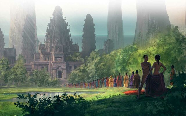 Archivo:Worship at a Summer Island temple of love by Marc Simonetti©.jpg