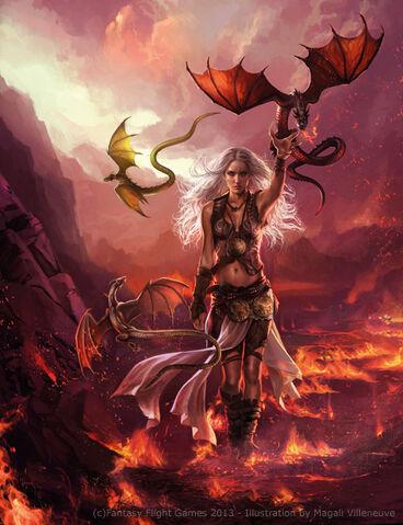 Archivo:Daenerys Targaryen by Magali Villeneuve, Fantasy Flight Games©.jpg