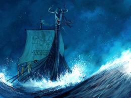 Blacktyde longship by MarcSimonetti