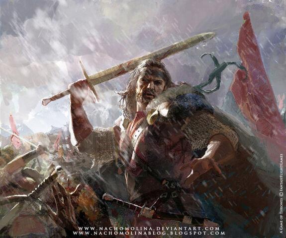 Archivo:Mercenario de Bosquespeso by Nacho Molina, Fantasy Flight Games©.jpg