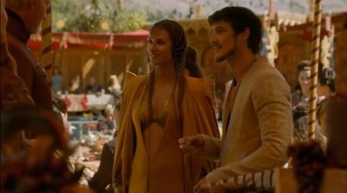 Archivo:Ellaria y Oberyn en boda de Joffrey HBO.jpg