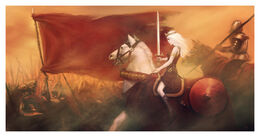 A Queen Riding to War by Rene Aigner©
