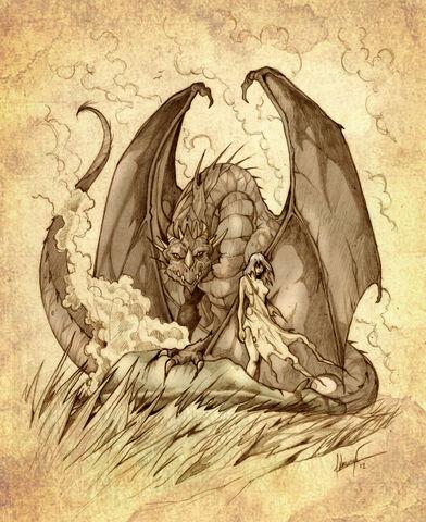 Archivo:Daenerys Targaryen y Drogon by Félix Sotomayor©.jpg