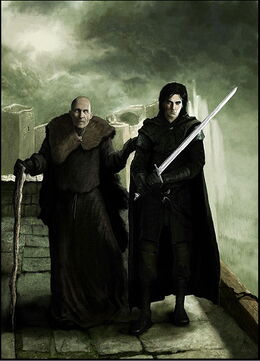 Maestre Aemon y Jon Nieve by Marc Simonetti©.jpg
