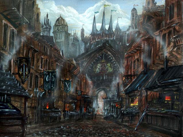 Archivo:Calle del Acero by Franz Miklis, Fantasy Flight Games©.jpg