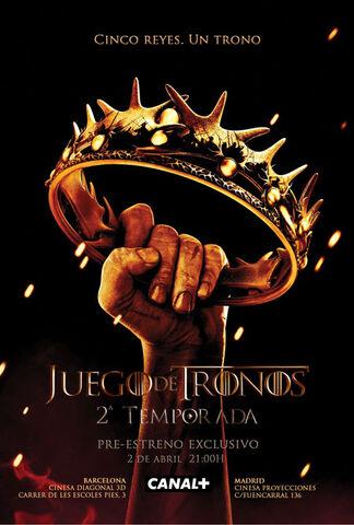 Archivo:Game of Thrones temporada 2 promocional.jpg