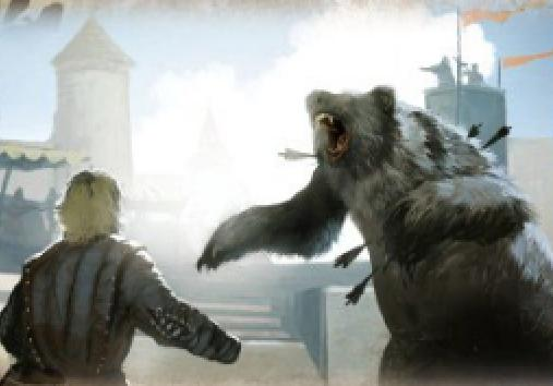 Archivo:Bear and the Maiden Fair by Tomasz Jedruzek, Fantasy Flight Games©.JPG