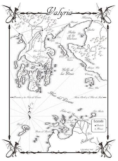 Mapa Valyria Danza de Dragones