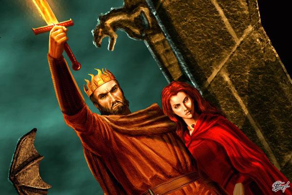 Archivo:Melisandre y Stannis by Amoka©.jpg