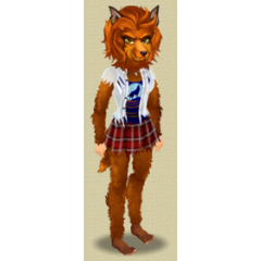 Female Level 7 Werewolf Outfit