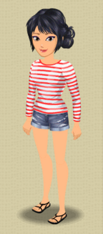 LEA MICHELE FEMALE OUTFIT (SANDALS AND STRIPES)