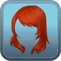 WINDSWEPT SIDE-BANGS (RED)