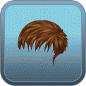 MESSY FRINGED GELLED-DOWN (BROWN)
