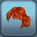 CHOPPY BANGS MESSY BUN (RED)