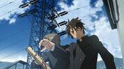Hisashi pushes Takashi aside