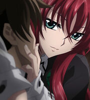 Rias telling Issei to become the ultimate Pawn