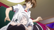 Koneko marking Issei's Lap as her Spot