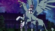 Rias and Issei take off on a griffin