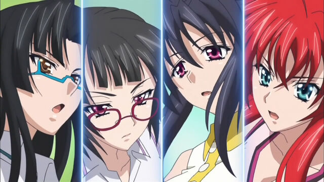 File:Tsubaki, Sona, Akeno and Rias playing tennis.JPG
