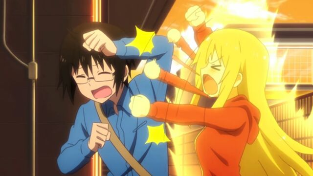 File:Umaru yells at Taihei for giving away her prize.jpg