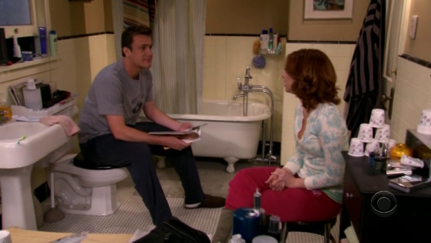 File:Marshall and Lily trapped in bathroom.png