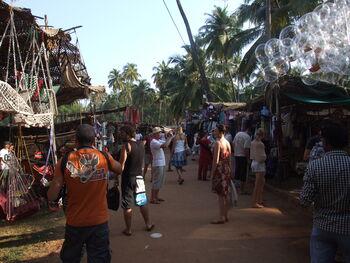 Hip Anjuna hippie market bubbles