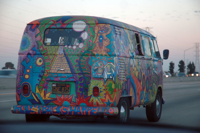 File:VW Bus T1 in Hippie Colors 2.jpg