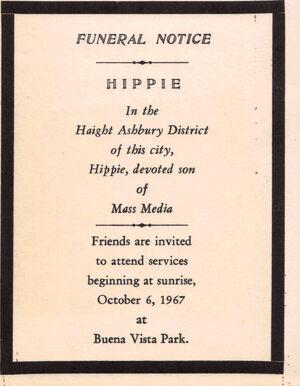 Hip Death of hippie