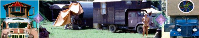 Housetrucks and camping at Nambassa 1981