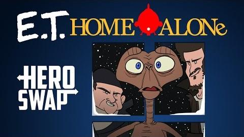 Home Alone Starring E.T. - Hero Swap