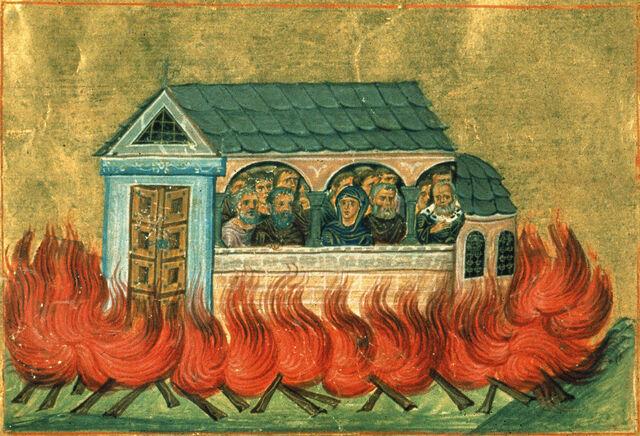 File:20,000 martyrs of Nicomedia (Menologion of Basil II).jpg