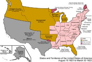 United States 1821-08-1822