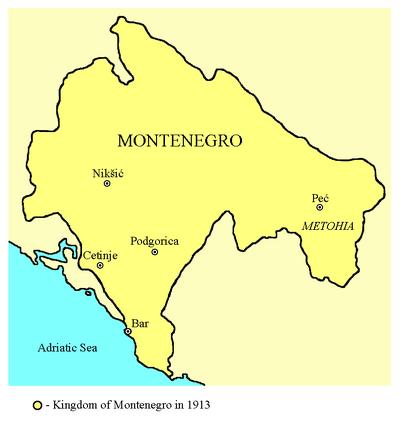 Kingdom of Montenegro-1913