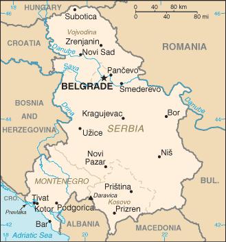 Serbia and Montenegro-CIA WFB Map