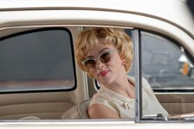 """Scarlett Johansson as """"Janet Leigh"""" on the set of HITCHCOCK. Photo By Suzanne Tenner"""