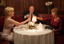 """Scarlett Johansson as """"Janet Leigh,"""" Anthony Hopkins as """"Alfred Hitchcock"""" and Helen Mirren as """"Alma Reville"""""""