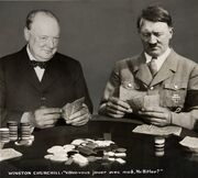 Photo Montage Will you play with me, Mr. Hitler, Paris 1940th