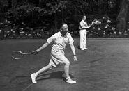 Heinrich Himmler playing tennis with Karl Wolff circa 1941