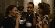 Gerda and Traudl drinking