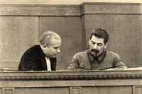 Nikita Khrushchev and Joseph Stalin January 1936