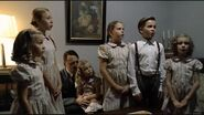 Goebbels children sing to Hitler