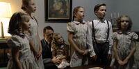The Goebbels children sing to Hitler