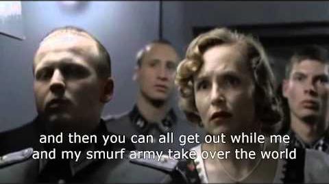 Hitler gets a smurf