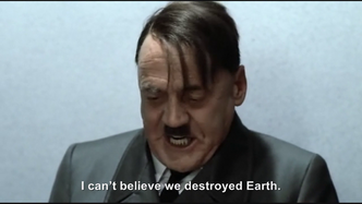Hitler buys the Death Star and accidently destroys Earth