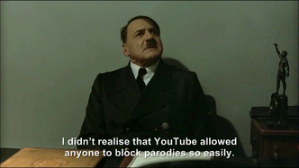 Hitler is informed R.T.I. is blocking Downfall parodies