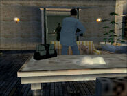 Pablo in his office in Codename 47