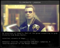 Landon mission details