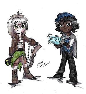 Chibi Lynn and Shalom