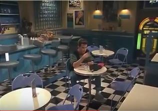 H&a diner wide angle shot inside 1991