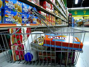 Groceries in transit